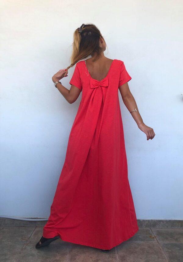 Maxi φόρεμα με φιόγκο 1