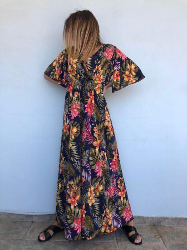 Maxi φόρεμα εμπριμέ 1