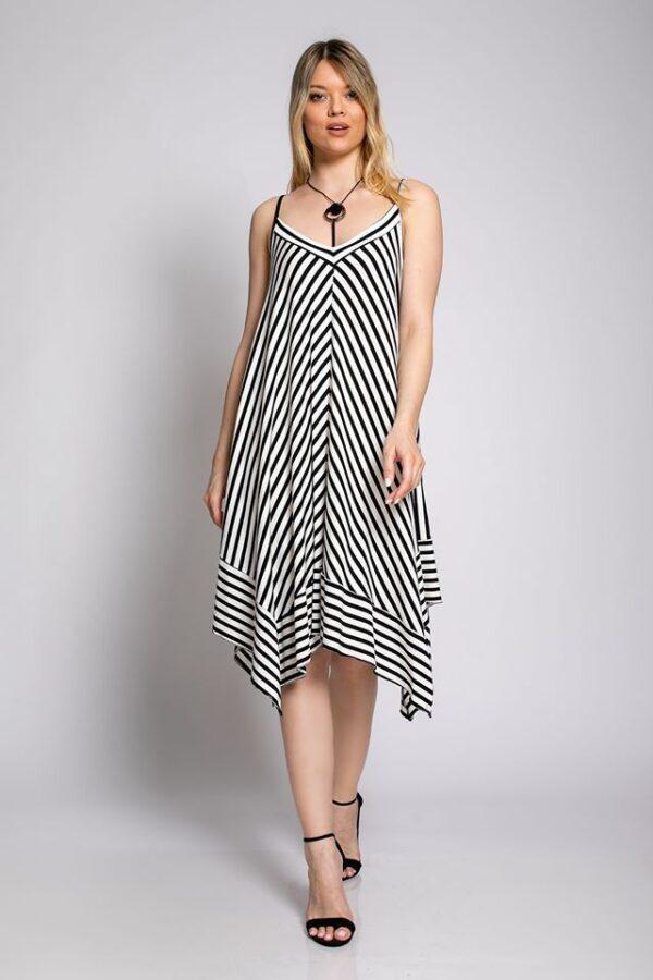 Φόρεμα ριγέ 1