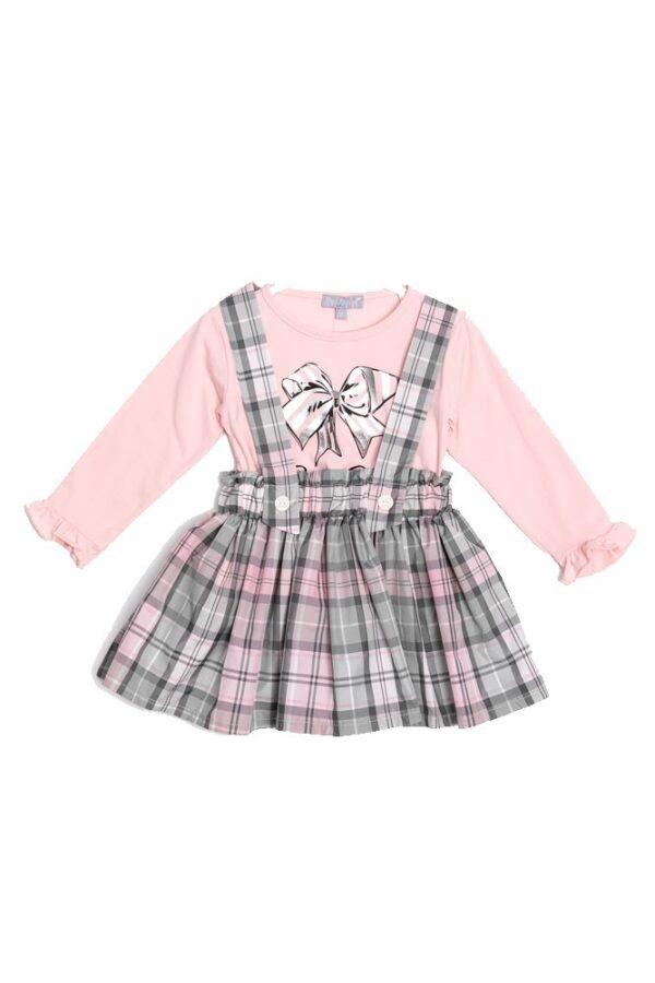 Σετ μπλούζα φούστα καρώ 1