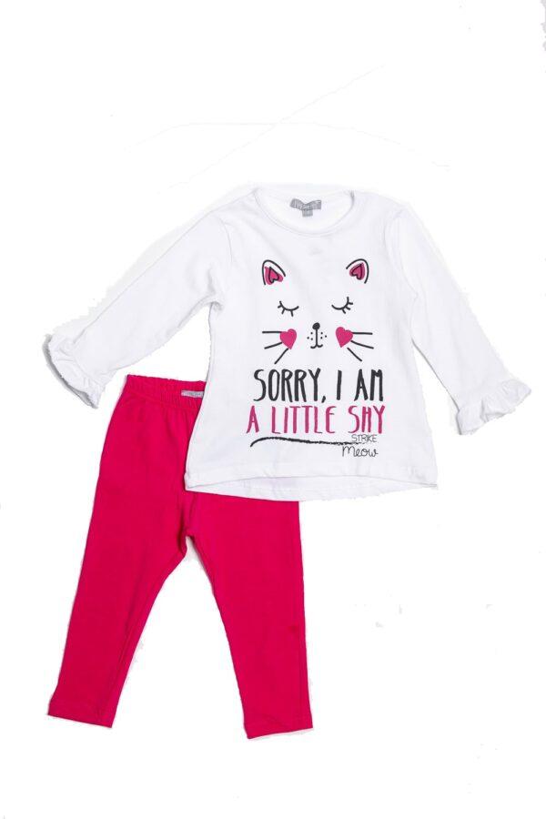 Σετ μπλουζοφόρεμα με κολάν Kitty 1
