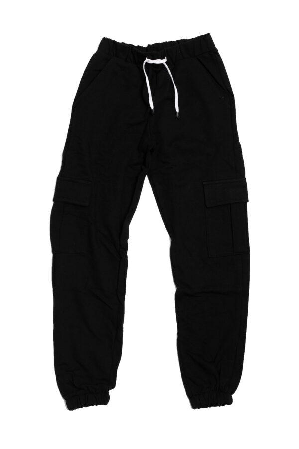 Παντελόνι βαμβακερό μαύρο 1