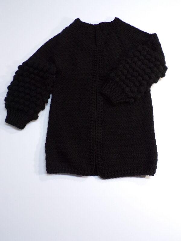 Χειροποίητη ζακέτα μαύρη 1