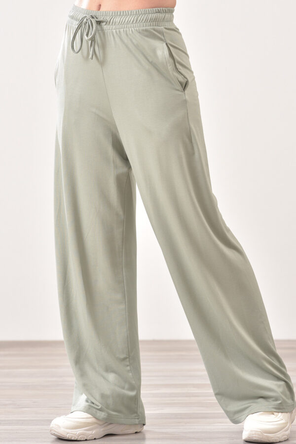 Παντελόνι φόρμας μακό με τσέπες μέντα 1