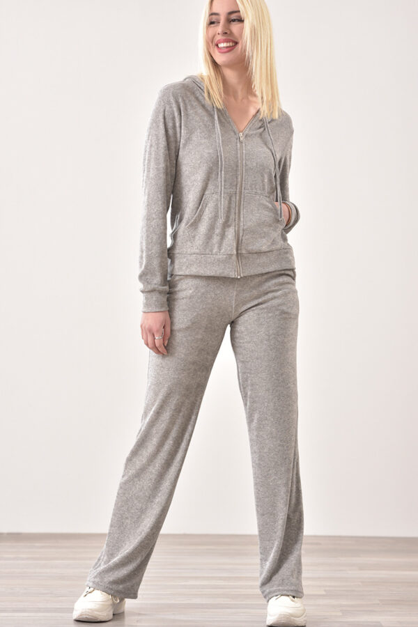 Παντελόνι φόρμας με τσέπες γκρι 1