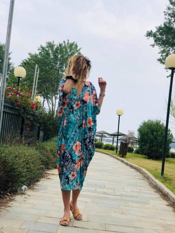 Φόρεμα σάκος floral 1