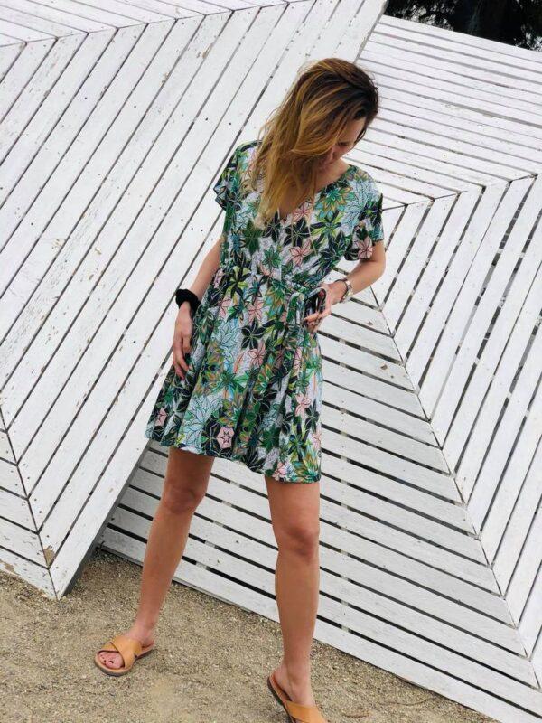 Mινi φόρεμα κρουαζέ 1