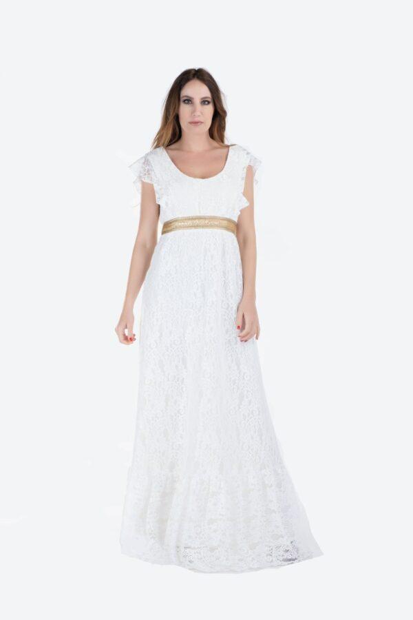 Maxi φόρεμα δαντέλα 1