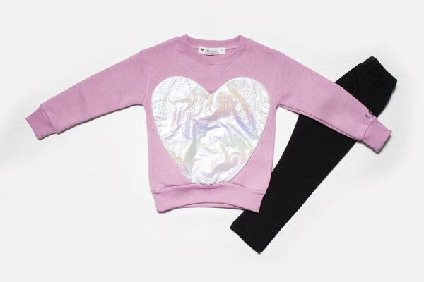 Σετ μπλούζα-κολλάν Heart 1